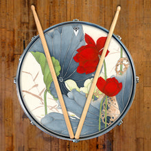 Lotus Pond Graphic Drum Head Art - All Styles and Sizes - Art by Sally Nissen