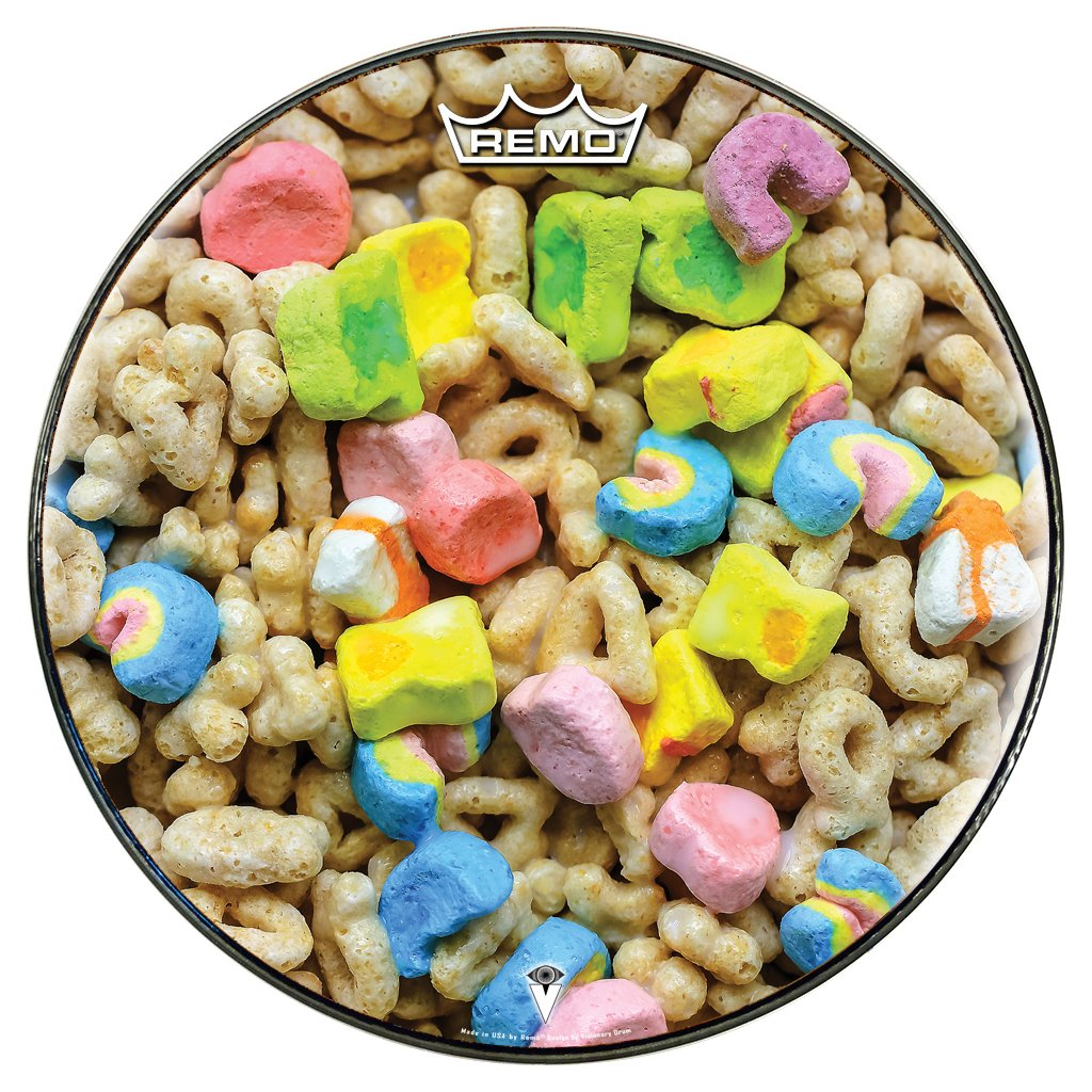 Lucky Charms cereal Remo-made drum head by Visionary Drum