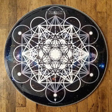 Meta Space geometric graphic drum head by Remo 22""