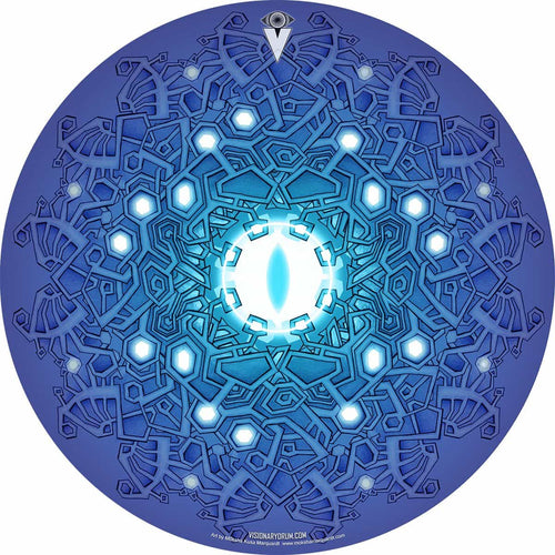 Evolution 3 by Moksha Marquardt graphic drum skin by Visionary Drum; geometric drum art