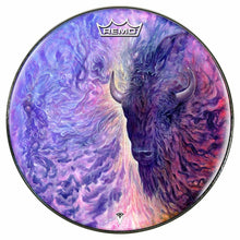 Spirit buffalo graphic Remo drum head by Visionary Drum