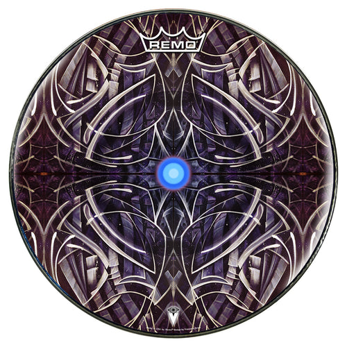 Dark graphic drum head star paths