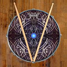Dark space graphic Remo-made drum head by Visionary Drum