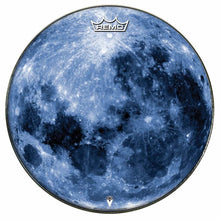 Blue Moon Design Remo-Made Graphic Drum Head by Visionary Drum; full moon drum art