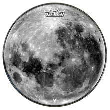 Moon Design Remo-Made Graphic Drum Head by Visionary Drum; full moon drum art