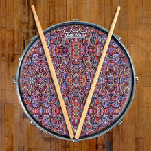 Moving Through Objects Design Remo-Made Graphic Drum Head on Snare Drum; red drum art