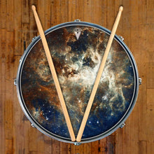 Nebula space graphic art drum skin decal on snare