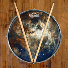 Nebula space Remo graphic drum head on snare drum