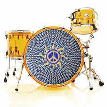 "Peace sign bass drum head on drum set 22"" Remo"