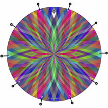 Prism Flipper bass face drum banner by Visionary Drum; spiritual drum art