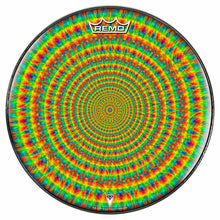 Rainbow Cave Design Remo-Made Graphic Drum Head by Visionary Drum; geometric drum art