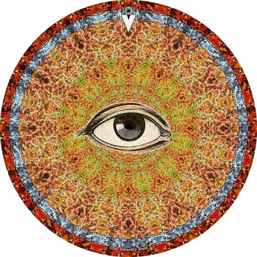 Psychedelic Eye graphic drum skin 22