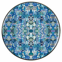Undersea Abstraction design graphic Remo drum head by Visionary Drum; kaleidoscope drum art