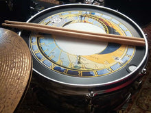 Big Fat Snare Drum with astrological clock Visionary Drum skin on snare