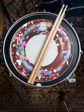 chocolate donut big fat snare drum on snare