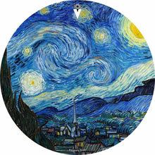 Van Gogh Starry Night design graphic drum skin by Visionary Drum; stars painting drum art