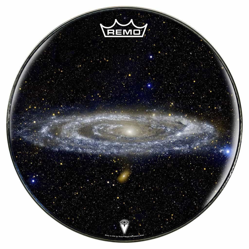 22 andromeda galaxy graphic drum head powered by remo visionary drum. Black Bedroom Furniture Sets. Home Design Ideas