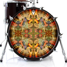 anemone design graphic drum skin on bass