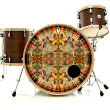 anemone design graphic drum skin on drum kit