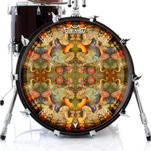anemone design Remo graphic drum head on bass