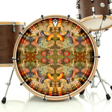 anemone design graphic Bass Face banner on drum