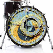 Astrological Clock Graphic Drum Head Art - All Styles and Sizes