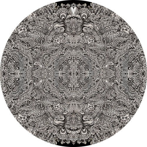 ink pattern graphic drum skin
