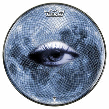 Blue Moon Vision Design Remo-Made Graphic Drum Head by Visionary Drum