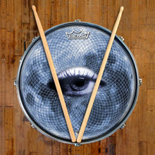 Blue Moon Vision Design Remo-Made Graphic Drum Head on Snare Drum