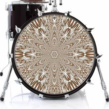 Abstract butterfly mandala drum skin art decal on bass