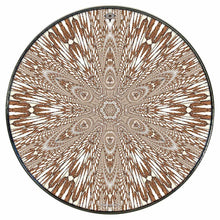 Abstract butterfly mandala drum skin mounted on head