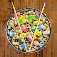 Remo made Lucky Charms cereal Drum head by Visionary Drum on snare