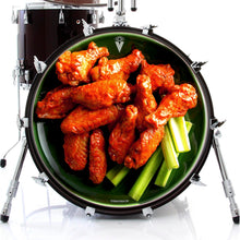 Chicken wings design graphic decal style drum skin on bass drum