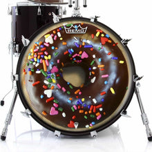 chocolate donut remo drum head on bass drum