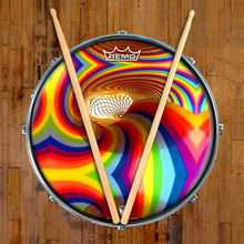 Color Portal Design Remo-Made Graphic Drum Head on Snare Drum