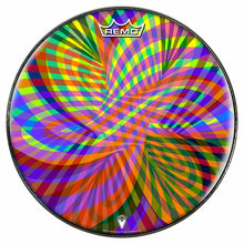 Color Stream Design Remo-Made Graphic Drum Head by Visionary Drum