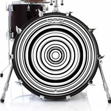 Concentric Design Remo-Made Graphic Drum Head on Bass Drum