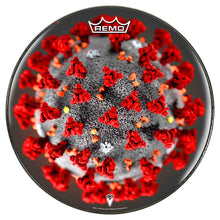 Coronavirus graphic Remo-made drum head