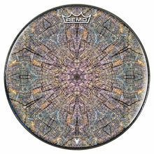 Cracked Wood Kaleidoscope Design Remo-Made Graphic Drum Head by Visionary Drum
