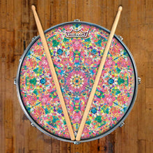 Crystalline Dream Design Remo-Made Graphic Drum Head on Snare Drum by Visionary Drum