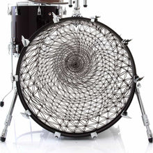 Flower of Life sacred geometry design drum skin decal on bass.