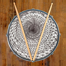 Flower of Life sacred geometry design drum skin decal on snare.