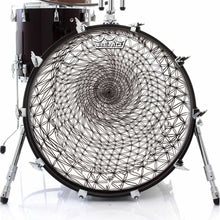 Flower of Life sacred geometry design Remo drum head on bass