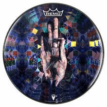 Hand mudra meditation graphic Remo drum head