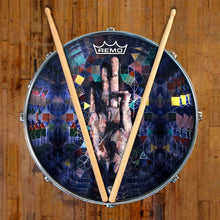 Hand mudra spiritual graphic Remo drum head