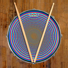 Depth Finder Design Remo-Made Graphic Drum Head on Snare Drum by Visionary Drum