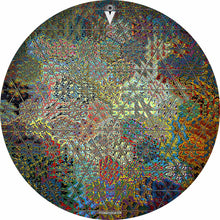 Depth Grid design graphic drum skin by Visionary Drum; colorful, abstract drum art