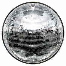 Disco Ball graphic drum skin installed on bass drum head; disco party drum art