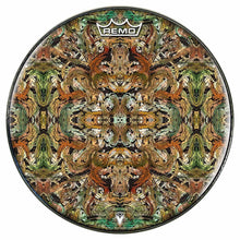 Earth Flow Design Remo-Made Graphic Drum Head by Visionary Drum; psychedelic drum art