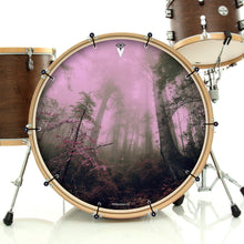 Enchanted Forest bass face banner by Visionary Drum on bass drum